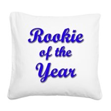 rookie-blu wo arrow Square Canvas Pillow