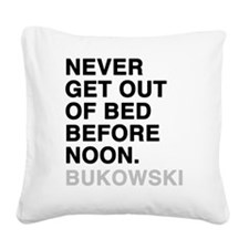 bukowski4 Square Canvas Pillow