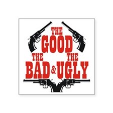 "Good B U dark r Square Sticker 3"" x 3"""