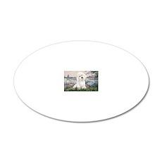 LIC-Seine-BichonFrise3 20x12 Oval Wall Decal