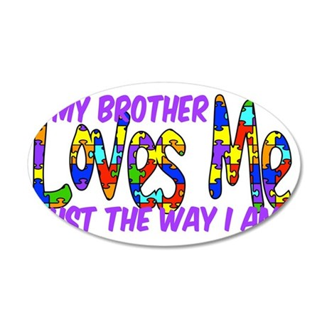 MyBrotherAutism 35x21 Oval Wall Decal