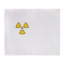 Nuclear reactor FAIL-white Throw Blanket