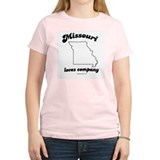 Missouri - Loves company Women's Pink T-Shirt