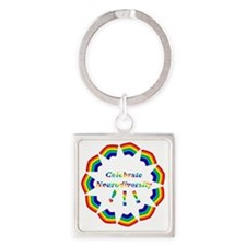 colors6 Square Keychain