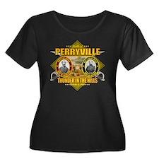 Perryvil Women's Plus Size Dark Scoop Neck T-Shirt