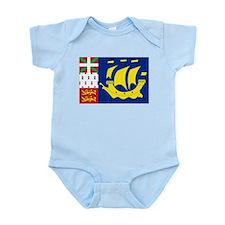 Saint-Pierre et Miquelon flag Infant Bodysuit