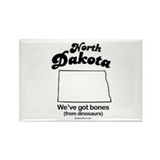 North Dakota - we've got bones Rectangle Magnet (1