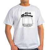 North Dakota - we've got bones Ash Grey T-Shirt