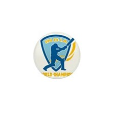 cricket india world champions Mini Button