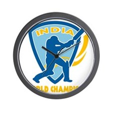 cricket india world champions Wall Clock