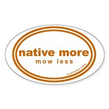 native-more-mow-less Decal