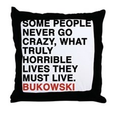 bukowski6 Throw Pillow