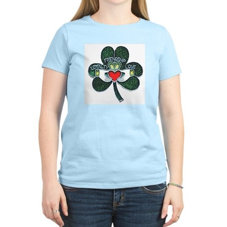 Shamrock Claddagh Women's T-Shirt