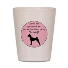 Basenji Silhouette - Girls Best Friend Shot Glass