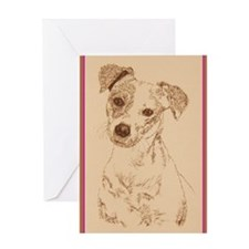 Jack_Russell_Smooth_KlineZ Greeting Card