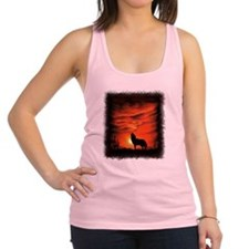 Coyote Howling Racerback Tank Top