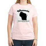 Wisconsin - come smell our dairy air Women's Pink