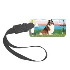 LIC-Lighthouse-Sheltie7 Luggage Tag