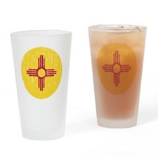 NM_round_merch Drinking Glass