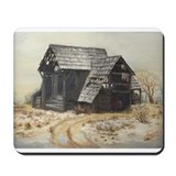 Mousepad with barn