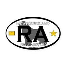 Newfoundland Rally RA Title Oval Car Magnet
