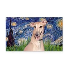 LIC-StarryNight-Greyhound Por Rectangle Car Magnet