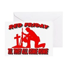 RED FRIDAY2 Greeting Card