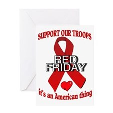 RED FRIDAY1 Greeting Card