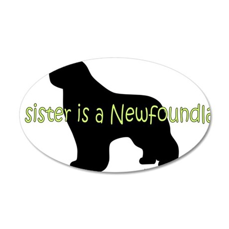 SisterNewf 35x21 Oval Wall Decal