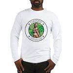 BEAR ASS Sports Long Sleeve White T-Shirt