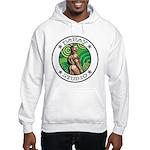 BEAR ASS Sports Ash Grey Hooded Sweatshirt