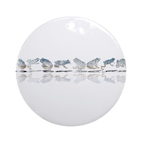 Frog Line Up Ornament (Round)