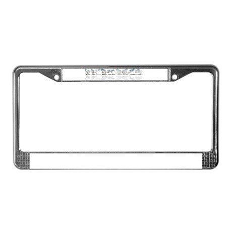 Frog Line Up License Plate Frame