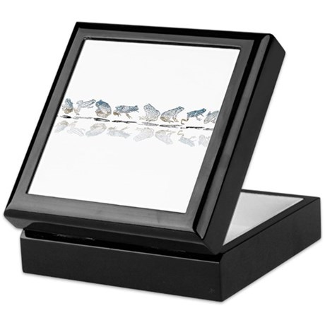 Frog Line Up Keepsake Box
