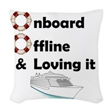 Onboard-Offline Woven Throw Pillow