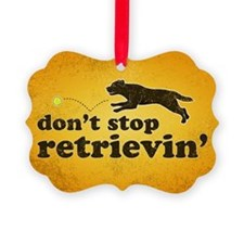 retrievin-distressedbgchoc3555 Ornament