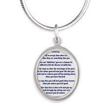23X35AffirmationsTribal Silver Oval Necklace