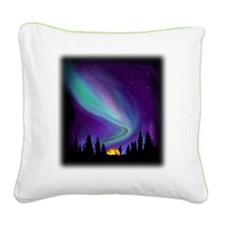Northern Light Square Canvas Pillow