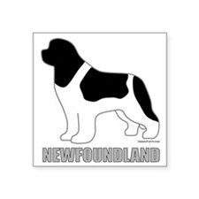 "LandseerNewfoundland Square Sticker 3"" x 3"""