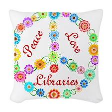 libraries Woven Throw Pillow