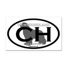 Newfoundland Champion Title Rectangle Car Magnet