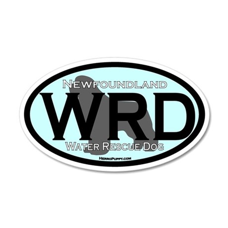 Newfoundland WRD Title 35x21 Oval Wall Decal
