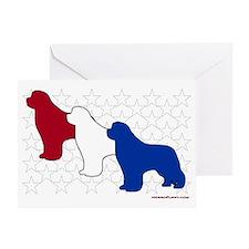 PatrioticNewfs Greeting Card