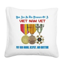 presence of vn vet Square Canvas Pillow