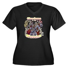 Zero Charism Women's Plus Size Dark V-Neck T-Shirt