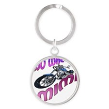 TWO WHEELIN MIMI Round Keychain