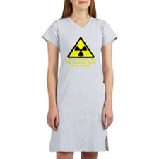 blk_Radiation_Superpowers Women's Nightshirt