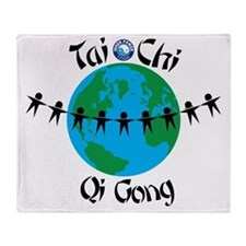 WorldTaiChi no date Throw Blanket