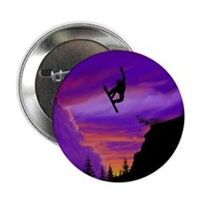 "Snowboarder Off Cliff 2.25"" Button"
