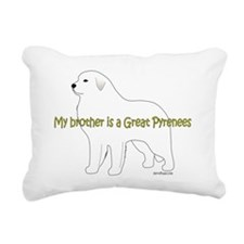 GreatPyrenees_Brother Rectangular Canvas Pillow